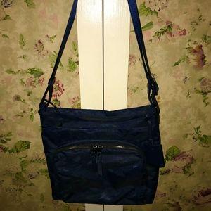 Voyageur Carmel Nylon Crossbody Bag NWOT's